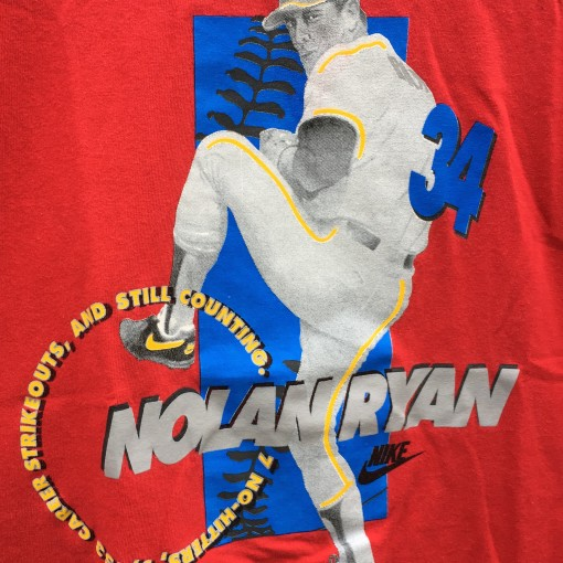 90's Nike Nolan Ryan T shirt vintage red