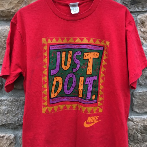90's Nike Just Do It vintage t shirt red size XL grey tag