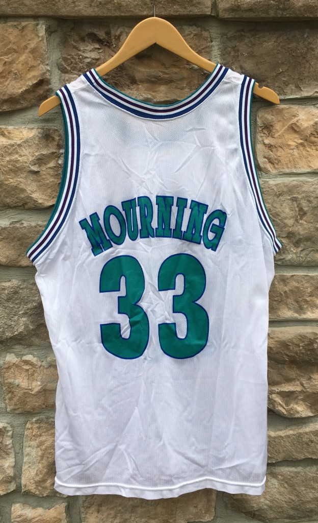 new arrival 03c18 d7671 1994 Alonzo Mourning Charlotte Hornets Champion NBA Jersey Size 48