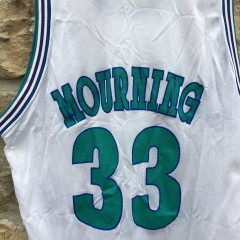 1994 Vintage Alonzo Mourning Charlotte Hornets Champion NBA jersey size 48 XL