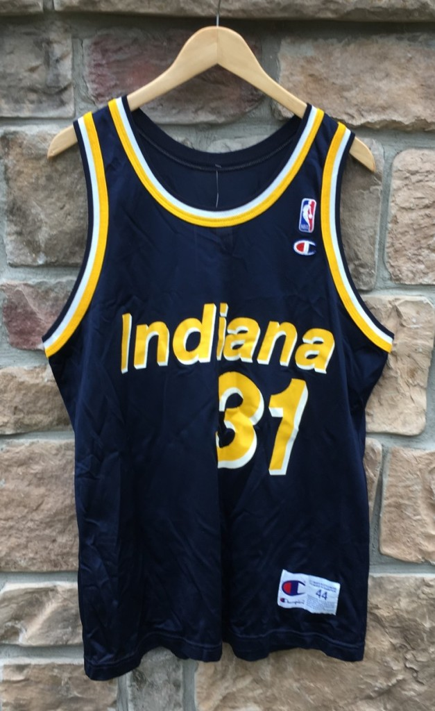 90 s vintage Reggie Miller Indiana pacers champion nba jersey size 44 large 4df3223ad