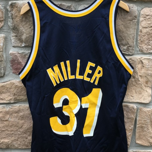 90's vintage Reggie Miller Indiana pacers champion nba jersey size 44 large