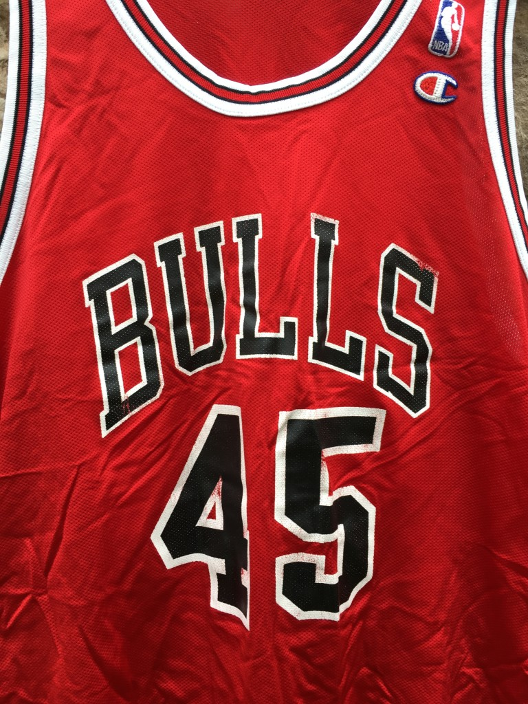 new style b1754 87ee6 1995 Michael Jordan #45 Chicago Bulls Champion NBA Jersey Size 48