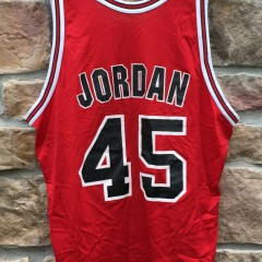 1994-95 Michael Jordan Chicago Bulls #45 Champion NBA jersey size 48 XL