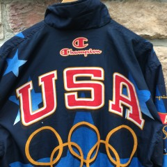 1996 Team USA olympic champion medal stand jacket size XL Atlanta Olympics