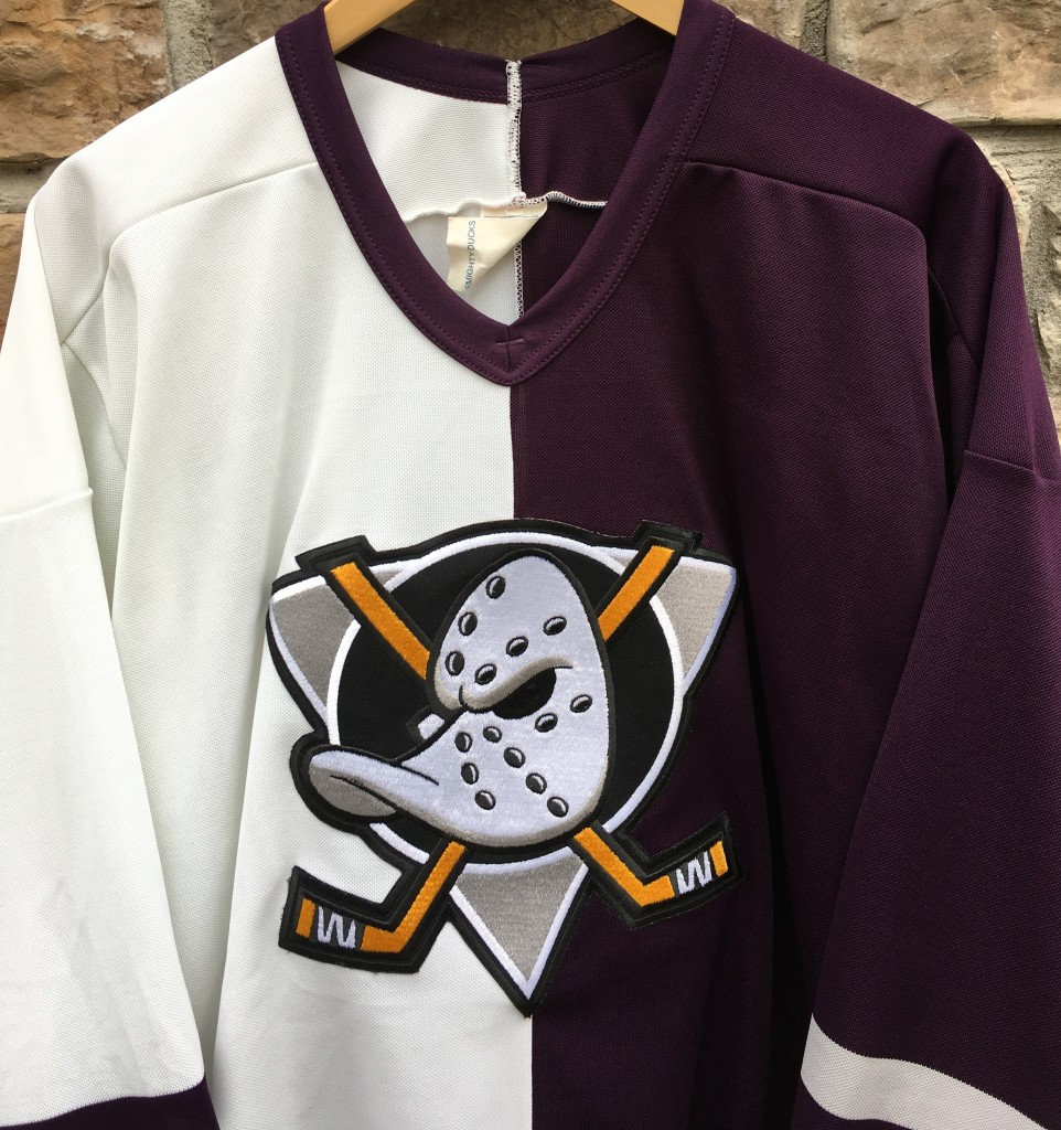 90 s Anaheim Mighty Ducks Split CCM NHL Jersey Size Large  e9d517ee9
