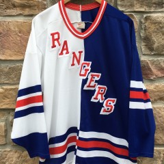 90's New York Rangers CCM Split NHL jersey size Large