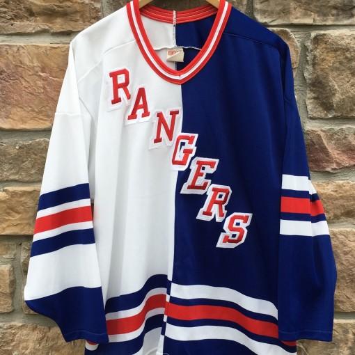 90 s New York Rangers Split CCM NHL Jersey Size Large  5d1b52932