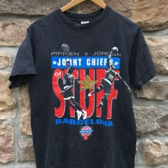 1992 Michael Jordan Scottie Pippen joint chiefs stuff Barcelona T shirt size large
