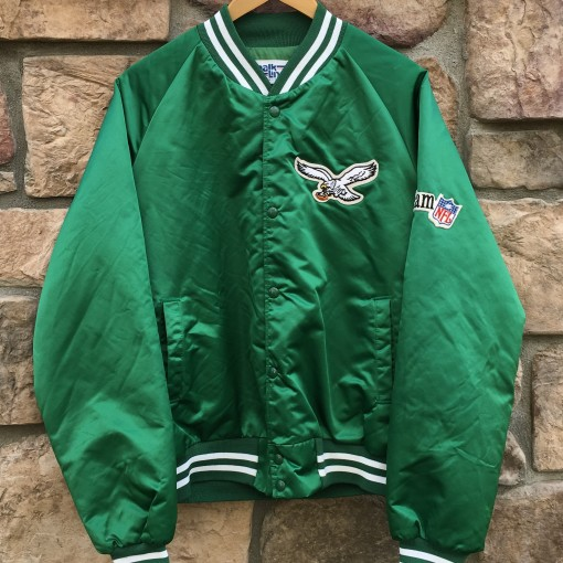90's Philadelphia Eagles vintage chalkline satin nfl jacket size large kelly green