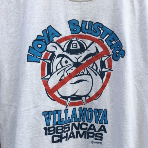 1985 Villanova Wildcats vintage Hoya Busters NCAA national champions t shirt logo 7 size medium