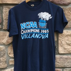 vintage 1985 80's Villanova Wildcats NCAA national champions t shirt screen stars size medium
