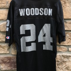 1998 Charles Woodson Oakland Raiders champion nfl jersey size 44 large rookie