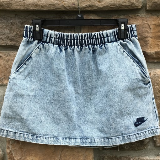 90's Nike Challenge Court bleached denim skirt size medium