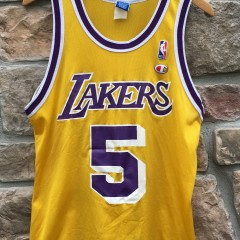 90's Robert Horry Los Angeles Lakers Champion NBA Vintage Jersey size 40