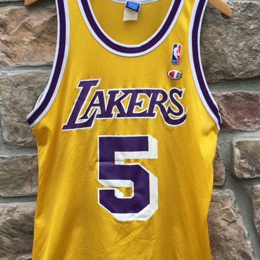 123bff0c031 90 s Robert Horry Los Angeles Lakers Champion NBA Vintage Jersey size 40
