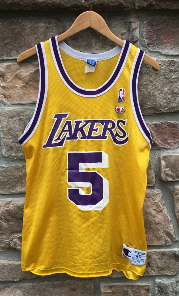 20a615aab 90 s Robert Horry Los Angeles Lakers Champion NBA Vintage Jersey size 40