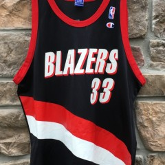 00's  Portland Trail Blazers Scottie Pippen Vintage Champion NBA jersey size 48 XL