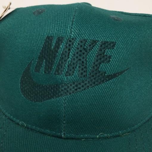 vintage deadstock early 90's Nike swoosh snapback hat green