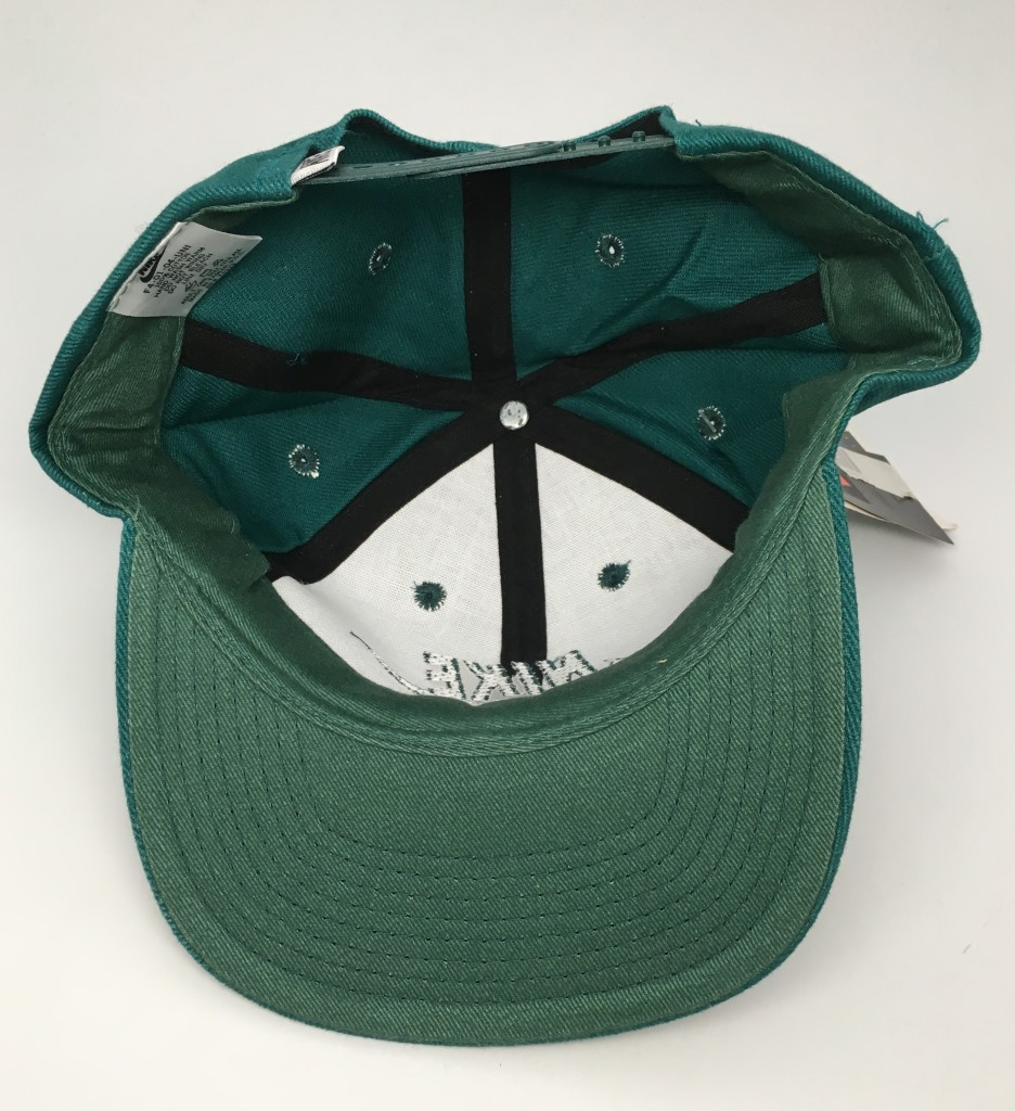 197e895b27ede vintage deadstock early 90 s Nike swoosh snapback hat green