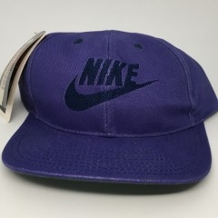 vintage deadstock early 90's Nike swoosh snapback hat purple