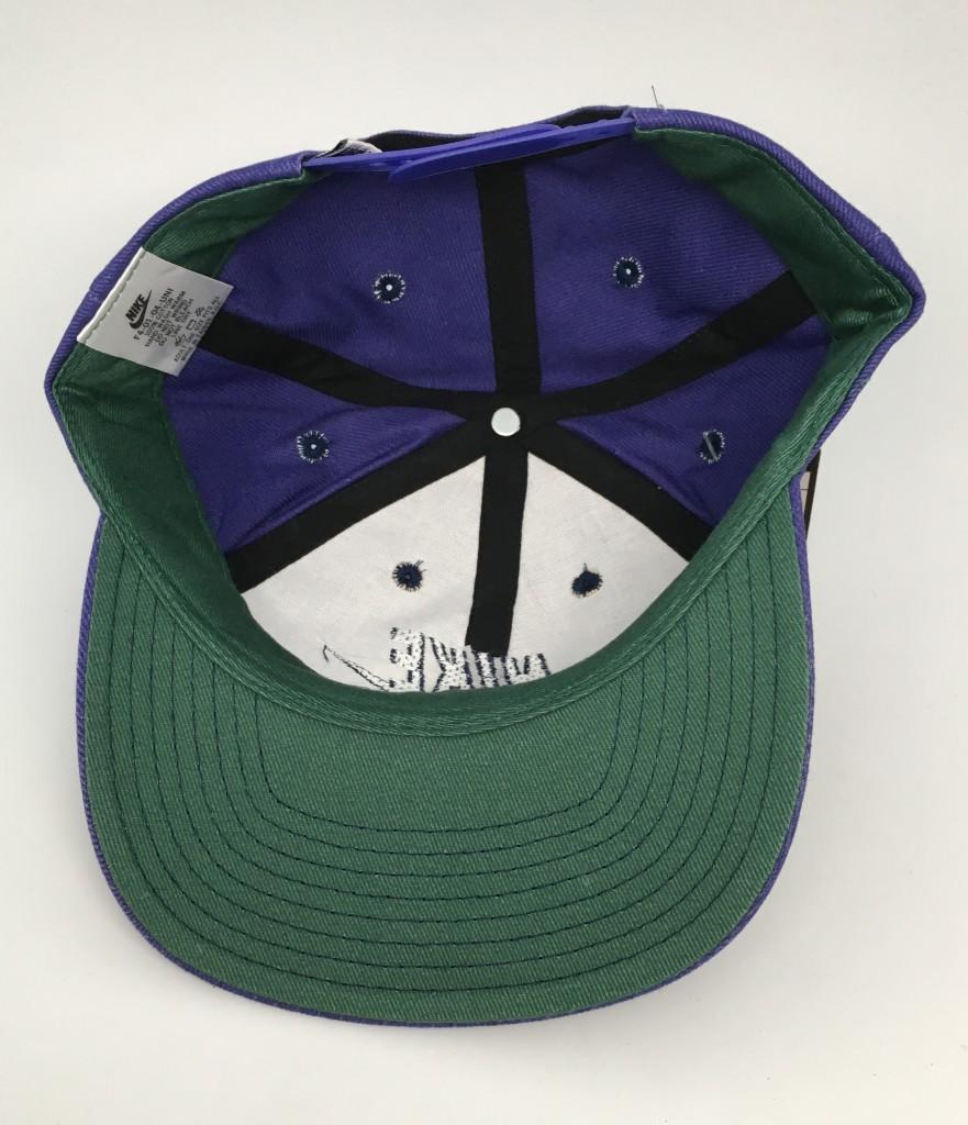 vintage deadstock early 90 s Nike swoosh snapback hat purple df30a814cf9
