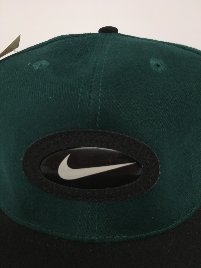 df3373d69087c ... best price 90s nike air swoosh strapback hat forrest green deadstock  vintage 5f5f2 83f29