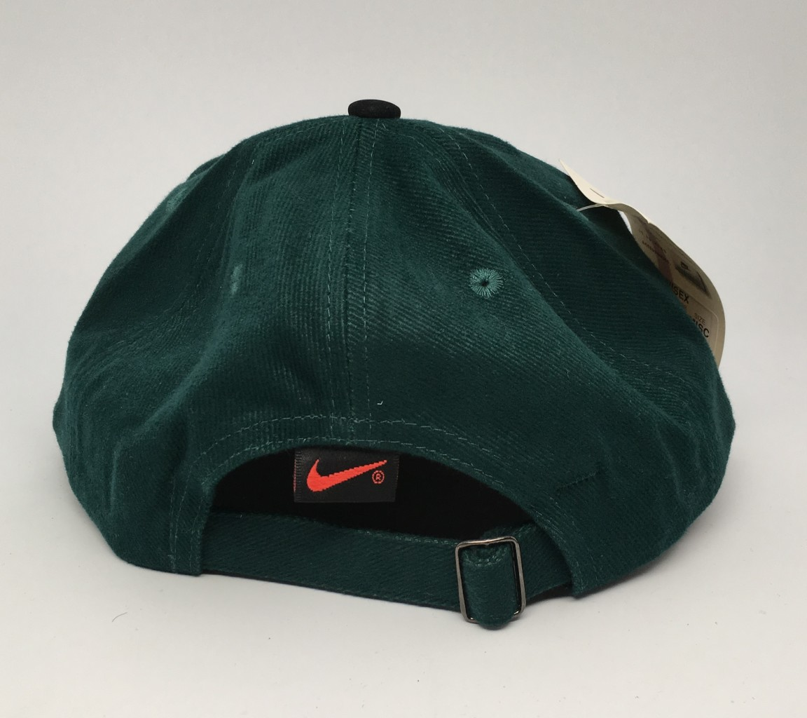 90 s Nike Air Swoosh strapback hat forrest green deadstock vintage 13013a4b786