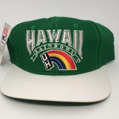 90's Hawaii Rainbows deadstock vintage The Game glue tag snapback hat