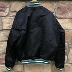 90's Philadelphia Eagles Stater Satin Bomber Jacket black size XL vintage OG