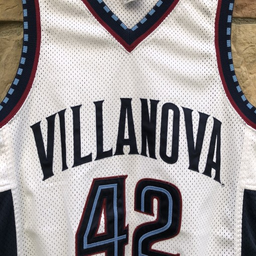 1996 Villanova Wildcats #42 Jason Lawson Authentic Nike NCAA basketball jersey size 40 medium