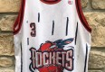 Vintage Steve Francis Houston Rockets Champion NBA jersey size 48 XL rookie