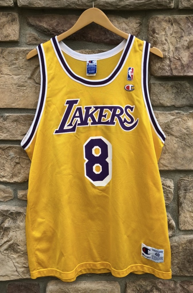 1997 Los Angeles Lakers Kobe Bryant Champion Rookie Jersey size 48 XL 8574c5265