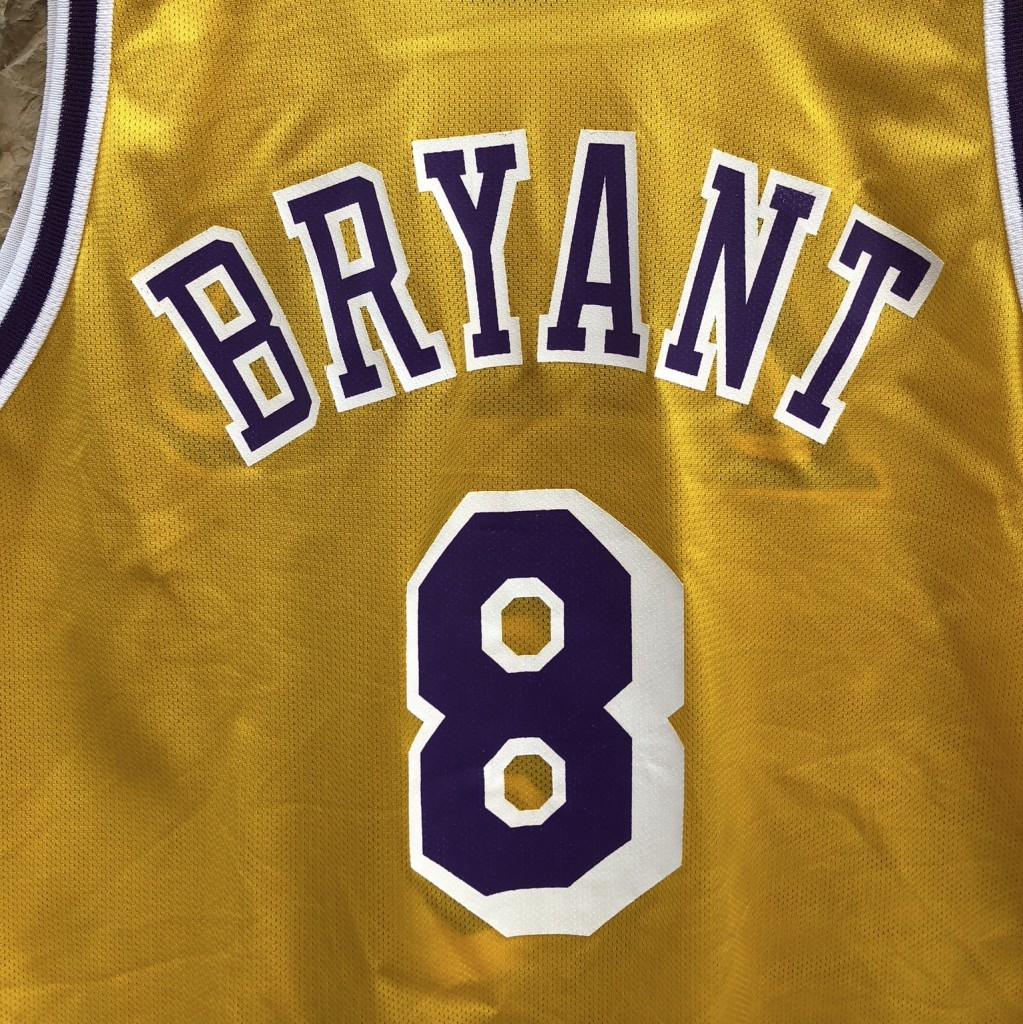 6a8c6433342 1997 Los Angeles Lakers Kobe Bryant Champion Rookie Jersey size 48 XL