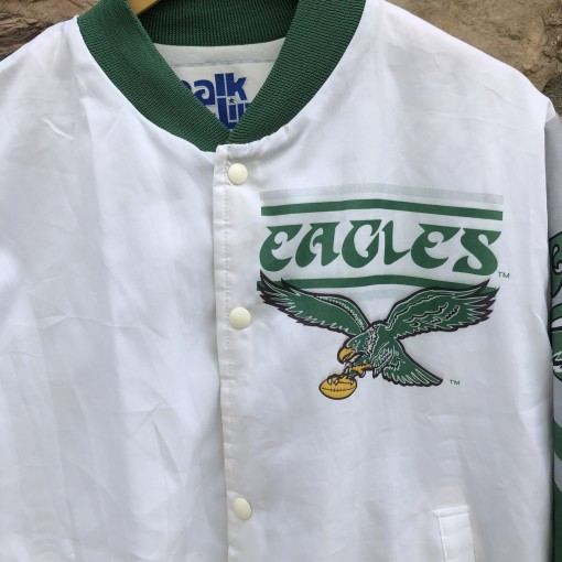 90s Philadelphia Eagles vintage Chalkline Fanimation Jacket size large