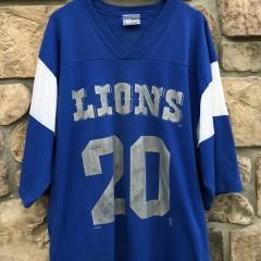 90's Detroit Lions Barry Sanders Lee sport jersey t shirt size XL
