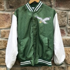 80's Philadelphia Eagles vintage Chalkline  Fanimation NFL Jacket size Large