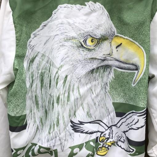 80's Philadelphia Eagles vintage Chalkline  Fanimation NFL Jacket size Large