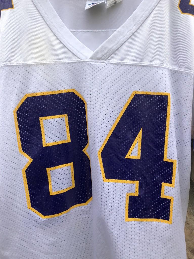online store 4a74f bad54 1998 Randy Moss Minnesota Vikings Starter White NFL Jersey Size Medium