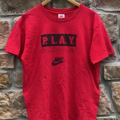 90's Nike P.L.A.Y. participation in the lives of america's youth t shirt grey tag size large