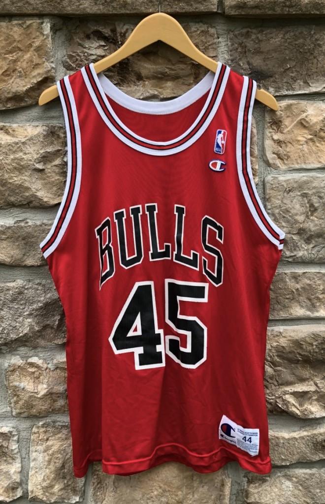 45dc7e11705a4e 1995 Michael Jordan Chicago Bulls Champion  45 NBA jersey size large 44