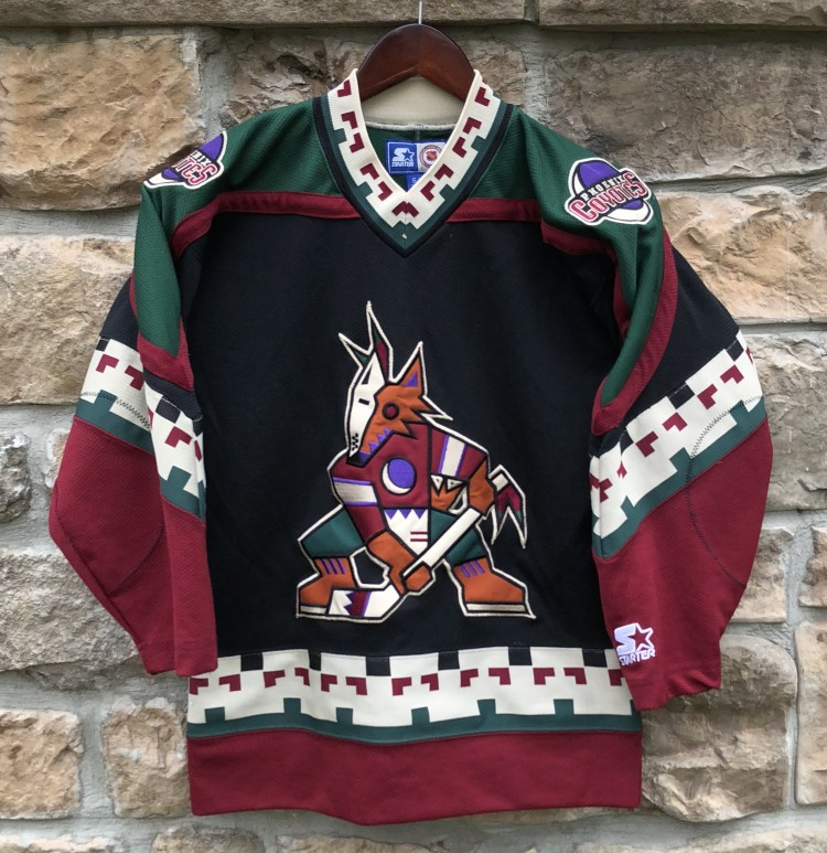 7aa25aab3 90 s Phoenix Coyotes Starter NHL hockey jersey vintage youth size  small medium