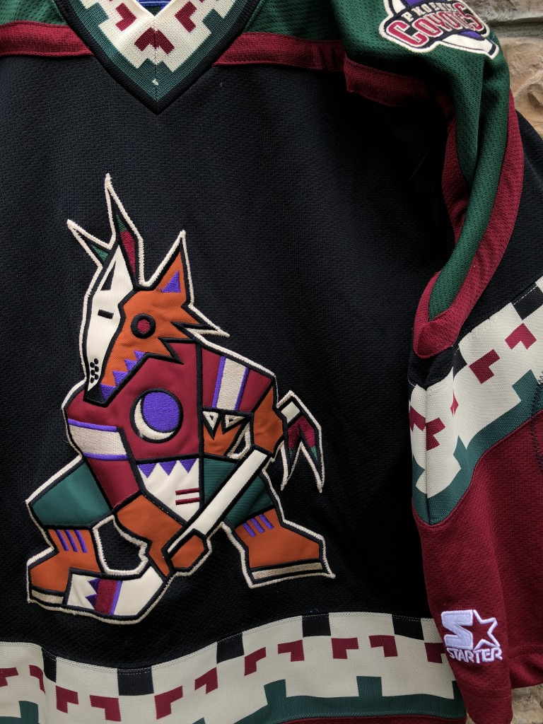 90 s Phoenix Coyotes Starter NHL hockey jersey vintage youth size  small medium fd6429c79