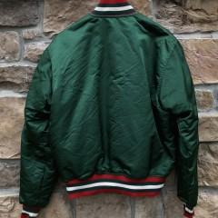 90's New Jersey Devils Starter Satin Bomber Jacket Green Size Large vintage OG