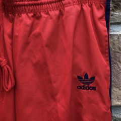 80's Adidas Three Stripe Track pants size medium infrared