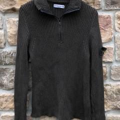 vintage Stone Island Fleece Quarter Zip Sweater Size Large Olive green