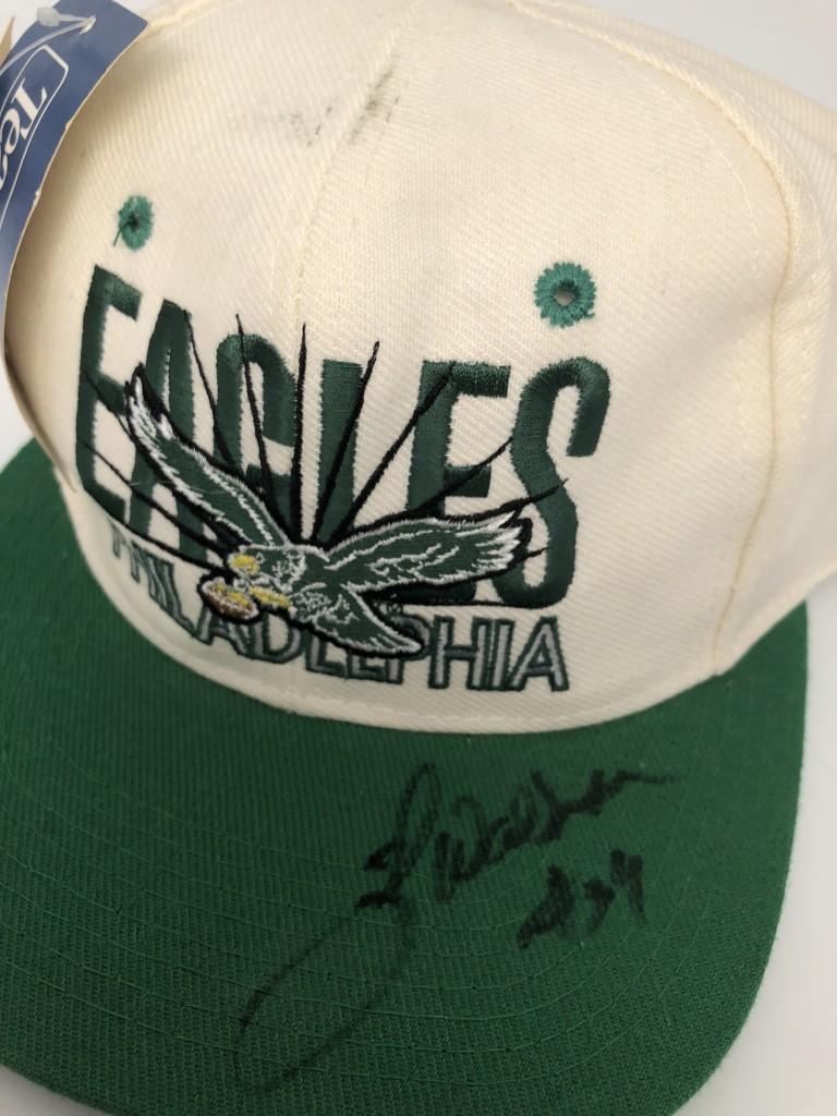 895b199b6b845 vintage 90 s Philadelphia Eagles AJD NFL Snapback hat autographed by  Hershel Walker