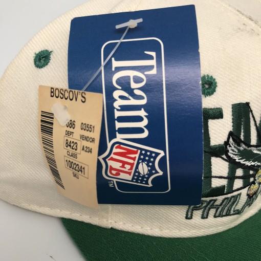 vintage 90's Philadelphia Eagles AJD NFL Snapback hat autographed by Hershel Walker