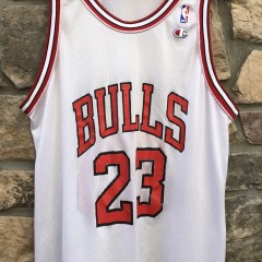 1992 Chicago Bulls vintage Champion NBA jersey size 48 XL white rare