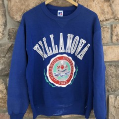 80's Villanova University Wildcats Russell Athletic Crewneck sweatshirt size Large vintage OG march madness